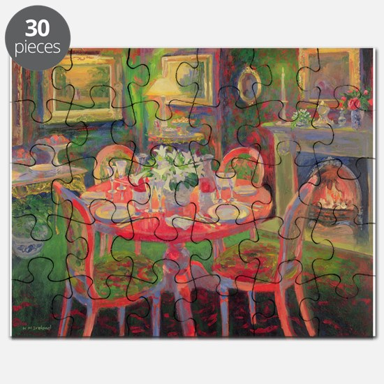 The Dining Room, c.2000 (oil on board) - Puzzle