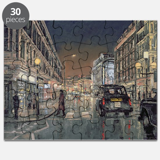 Shaftesbury Avenue, 2004 (oil on canvas) - Puzzle