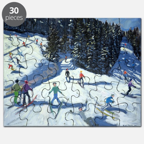 Mid-morning on the Piste, 2004 (oil on ca - Puzzle