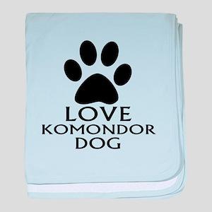 Love Komondor Dog baby blanket