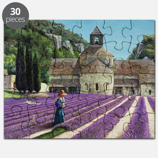 Lavender Picker, Abbaye Senanque, Provenc - Puzzle