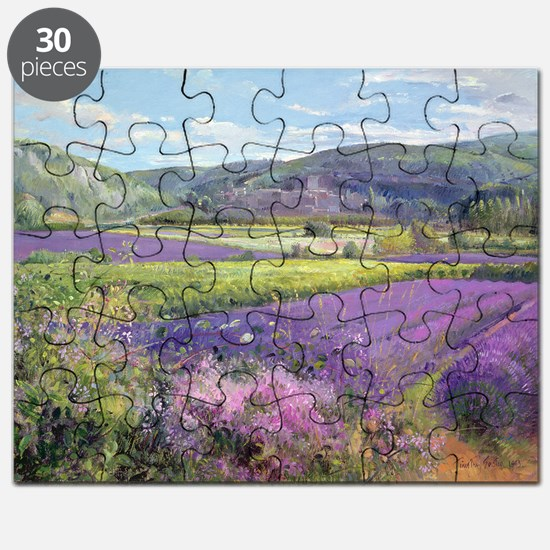 Lavender Fields in Old Provence (oil on c - Puzzle