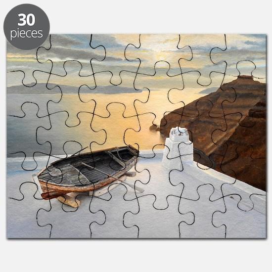 Santorini 7, 2010 (oil on board) - Puzzle