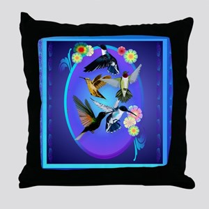 Throw Pillow For The Love Of Hummingbirds