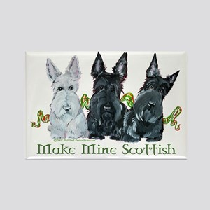 Scottish Terrier Trio Rectangle Magnet
