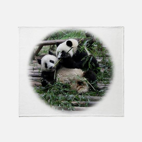 panda_fighting.png Throw Blanket