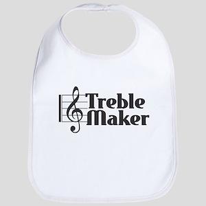 Treble Maker - Black Baby Bib