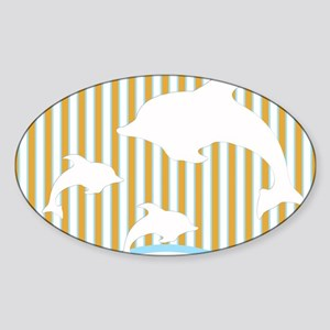 Dolphins Sticker (Oval)