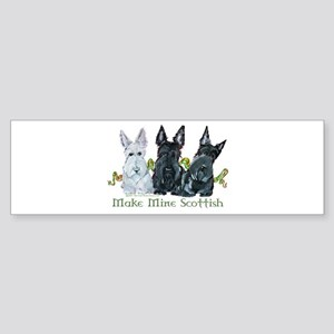Scottish Terrier Trio Bumper Sticker