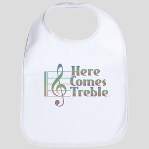 Here Comes Treble Rainbow Baby Bib