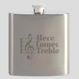 Here Comes Treble Rainbow Flask