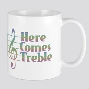 Here Comes Treble Rainbow Mugs
