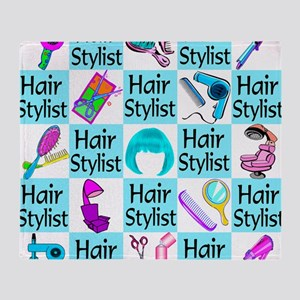 CHIC HAIR STYLIST Throw Blanket