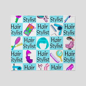 CHIC HAIR STYLIST Throw Blanket