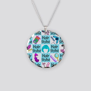 CHIC HAIR STYLIST Necklace Circle Charm
