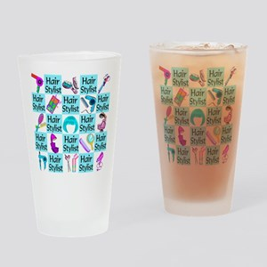 CHIC HAIR STYLIST Drinking Glass