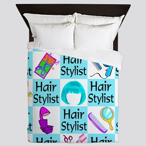 CHIC HAIR STYLIST Queen Duvet
