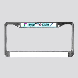 CHIC HAIR STYLIST License Plate Frame