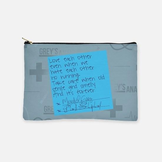 Greys Anatomy Sticky Note Makeup Pouch