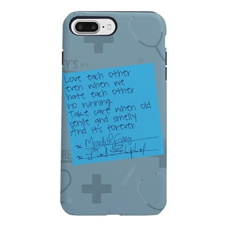 Greys Anatomy Sticky Note iPhone 7 Plus Tough Case
