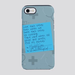 Greys Anatomy Sticky Note iPhone 7 Tough Case