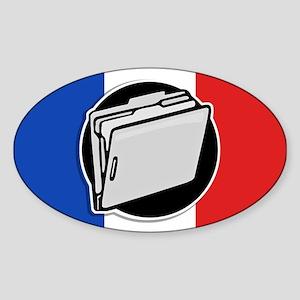 Francophile Sticker (Oval)