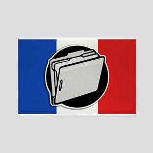 Francophile Rectangle Magnet