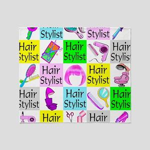 TOP HAIR STYLIST Throw Blanket