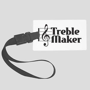 Treble Maker - Black Large Luggage Tag