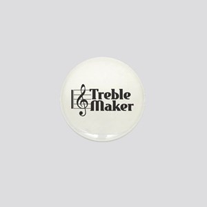 Treble Maker - Black Mini Button