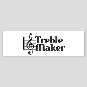 Treble Maker - Black Bumper Sticker