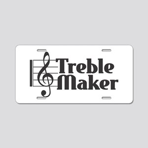 Treble Maker - Black Aluminum License Plate