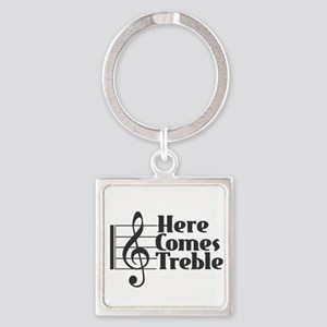 Here Comes Treble - Black Keychains