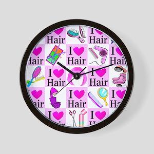 LOVE HAIR Wall Clock