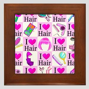 LOVE HAIR Framed Tile