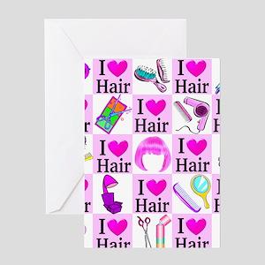 LOVE HAIR Greeting Card