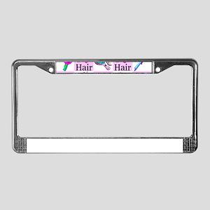 LOVE HAIR License Plate Frame