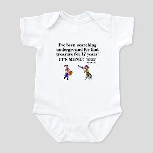 CICADA FINDS TREASURE AFTER 1 Infant Bodysuit