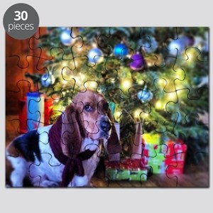 Bruin the Basset & His Christmas Tree Puzzle