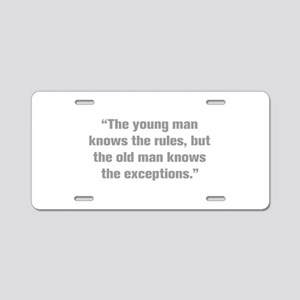 The young man knows the rules but the old man know