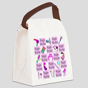 SUPER HAIR STYLIST Canvas Lunch Bag