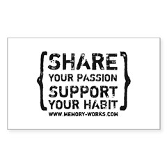 Share Your Passion Logo Rectangle Decal