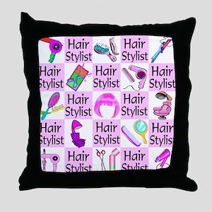 SUPER HAIR STYLIST Throw Pillow