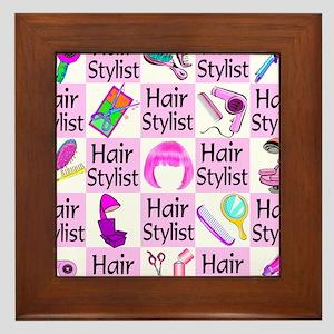 SUPER HAIR STYLIST Framed Tile