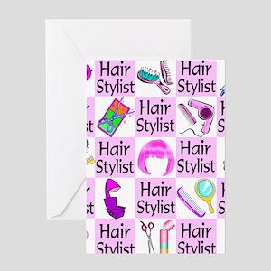 SUPER HAIR STYLIST Greeting Card