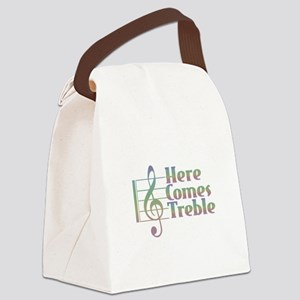 Here Comes Treble Rainbow Canvas Lunch Bag