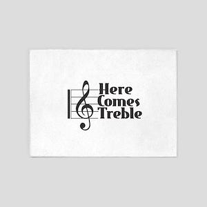 Here Comes Treble - Black 5'x7'Area Rug