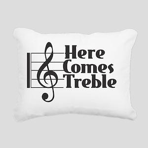 Here Comes Treble - Blac Rectangular Canvas Pillow