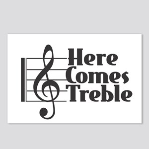 Here Comes Treble - Black Postcards (Package of 8)