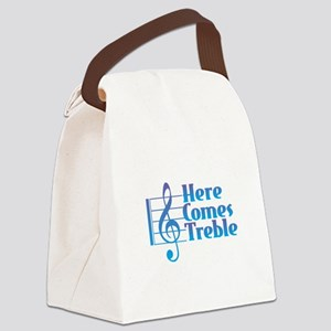 Here Comes Treble Canvas Lunch Bag